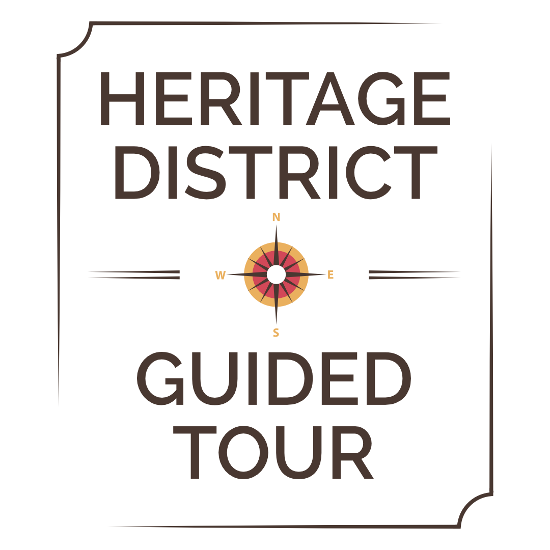 Logo for the Heritage District Guided Walking Tour