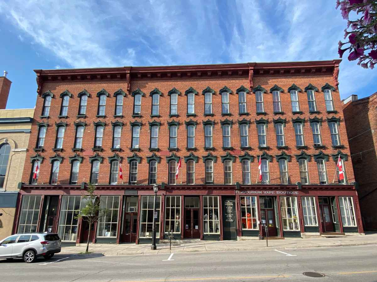 The St. Lawrence Hotel building, featured on the Heritage District Guided Walking Tour